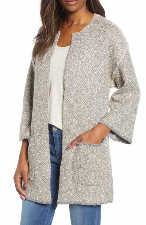 Wit   Wisdom Reversible Leopard Jacquard Sweater Jacket (Nordstrom  Exclusive) 86d28c9e7