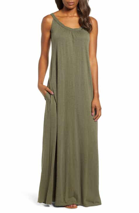 Caslon® Twist Neck Maxi Dress (Regular & Petite) by CASLON