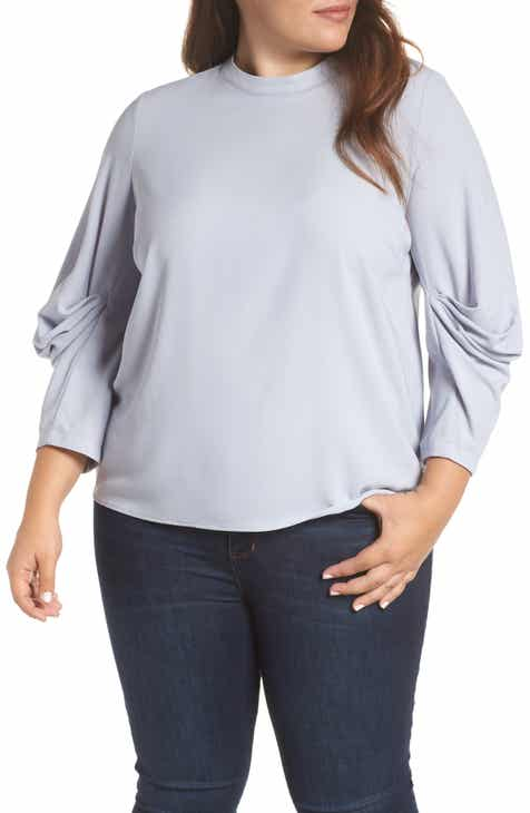 74f3a236fb7 Vince Camuto Draped Sleeve Top (Plus Size)