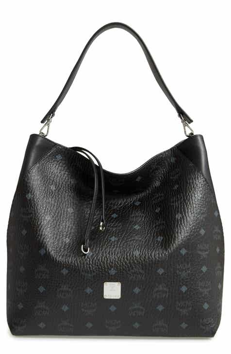 MCM Large Klara Visetos Coated Canvas Hobo cf16dff004b5a