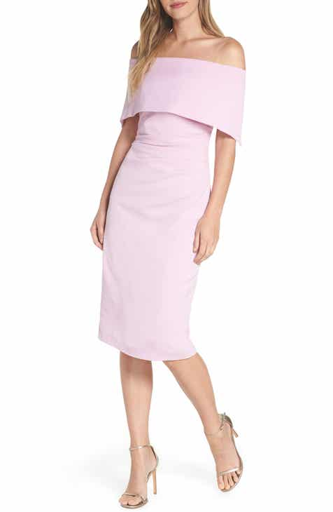 71db13ad Vince Camuto Popover Midi Dress (Regular & Petite)