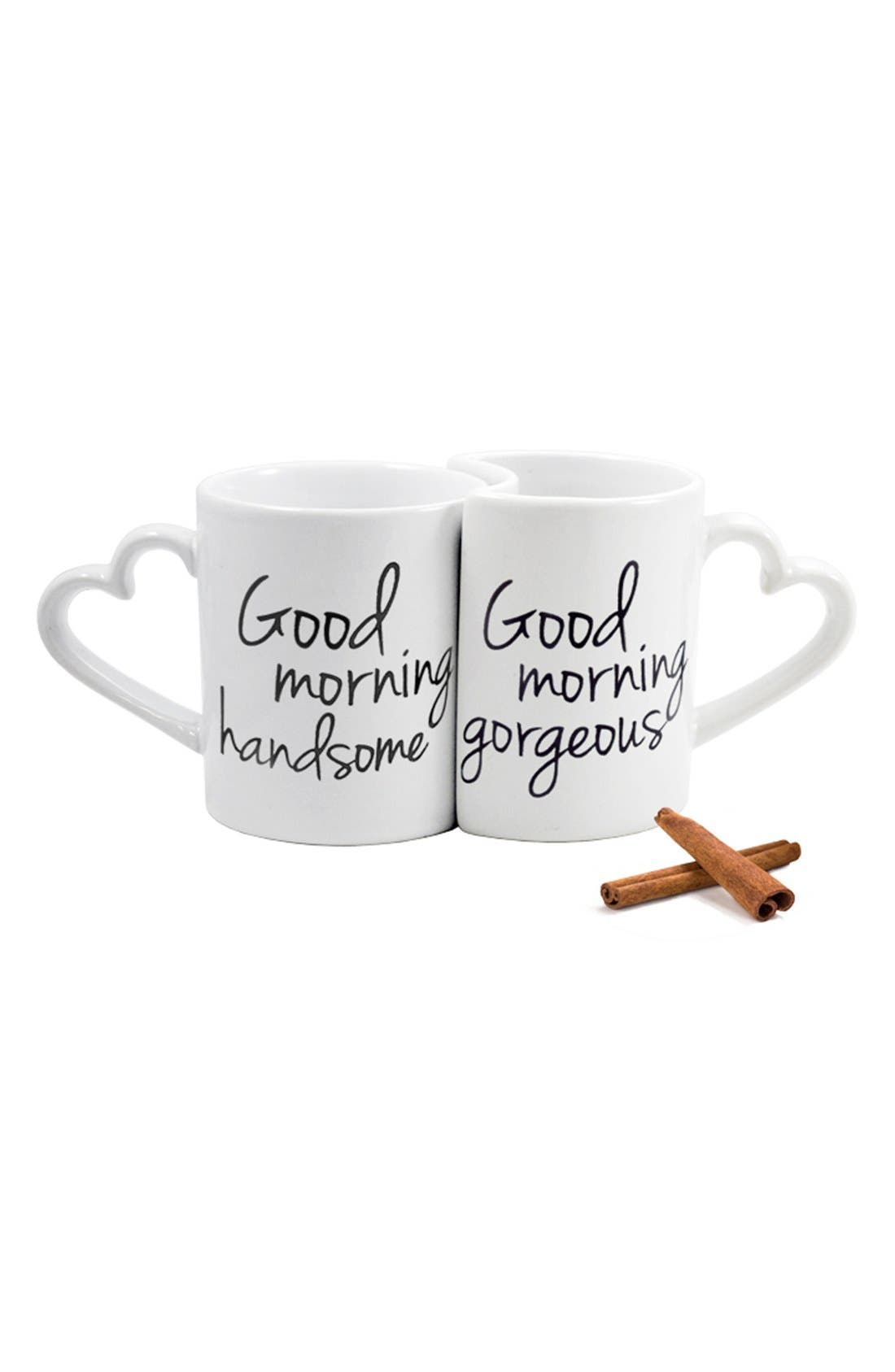 Alternate Image 2  - Cathy's Concepts 'Good Morning' Ceramic Coffee Mugs (Set of 2)