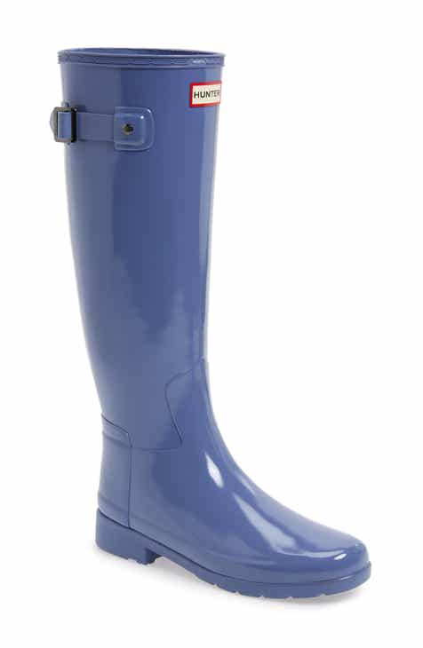 4e171d83ec4 Hunter Original Refined High Gloss Waterproof Rain Boot (Women)