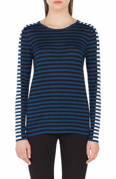 24267702c0 Akris punto Multicolor Stripe Knit Pullover