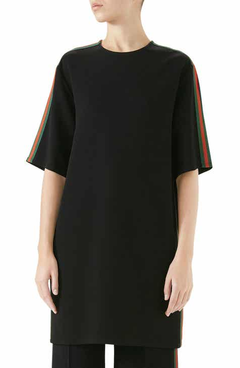 f075ba595 Gucci Side Stripe Cady Tunic Dress