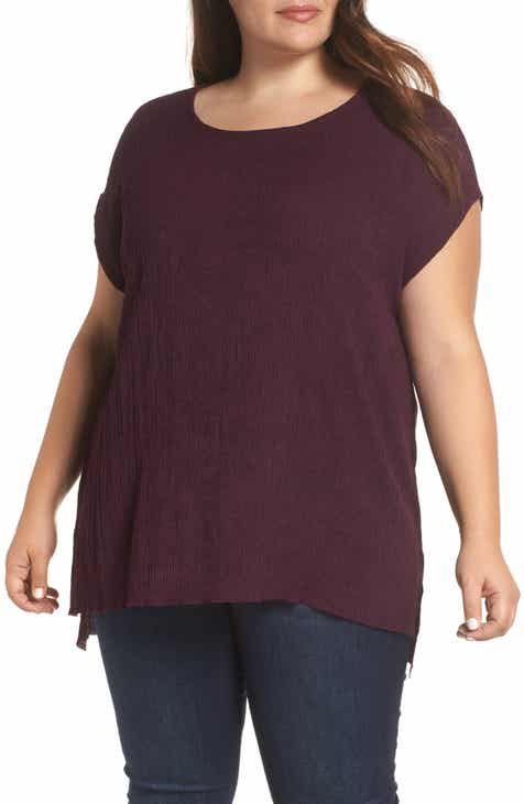 9fc629ac9e4 Dantelle High Low Crinkle Top (Plus Size)