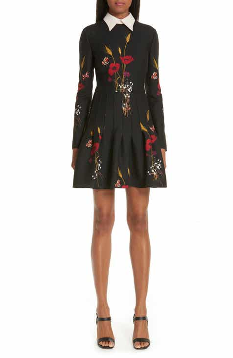 Valentino Floral Meadow Print Crepe Couture Dress by VALENTINO