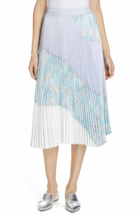 Tailored by Rebecca Taylor Ruffle Hem Linen Blend Pencil Skirt by TAILORED BY REBECCA TAYLOR
