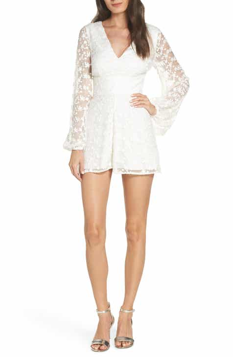 74115049fd0 Keepsake the Label Retrospect Balloon Sleeve Embroidered Mesh Romper