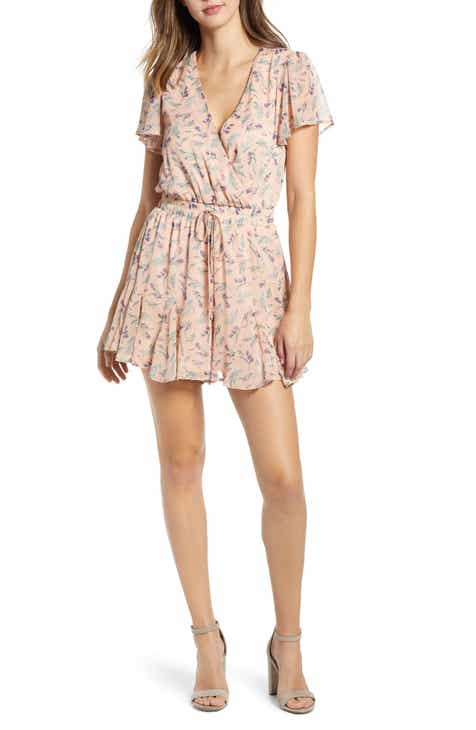 Row A Floral Print Romper by ROW A
