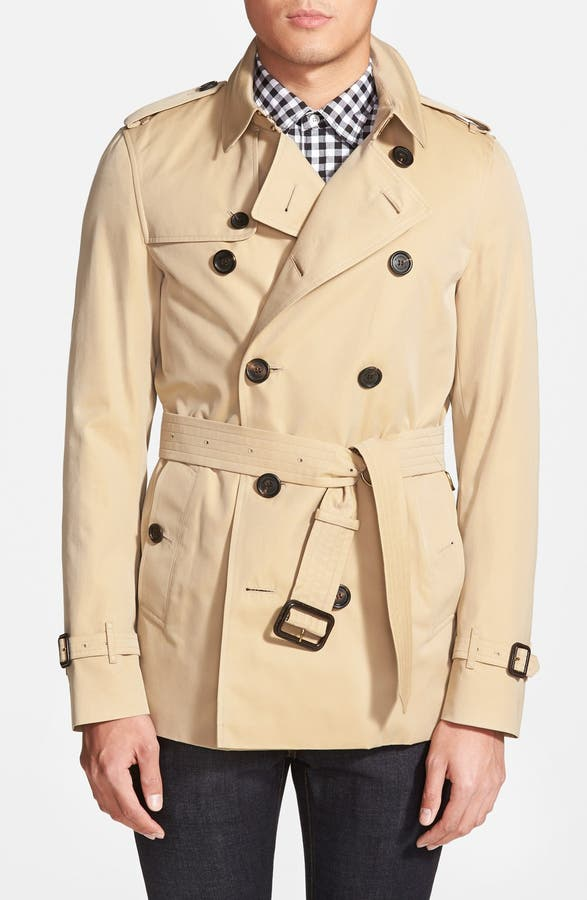 Burberry Sandringham Short Double Breasted Trench Coat | Nordstrom