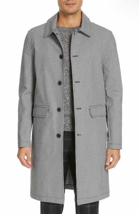 f20f530fe8e9 Eidos Houndstooth Stretch Cotton Car Coat