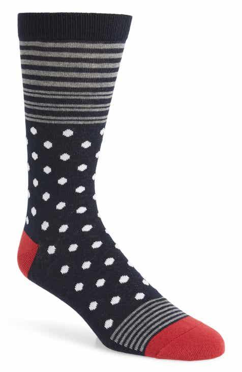 1901 Block Stripe Dot Socks