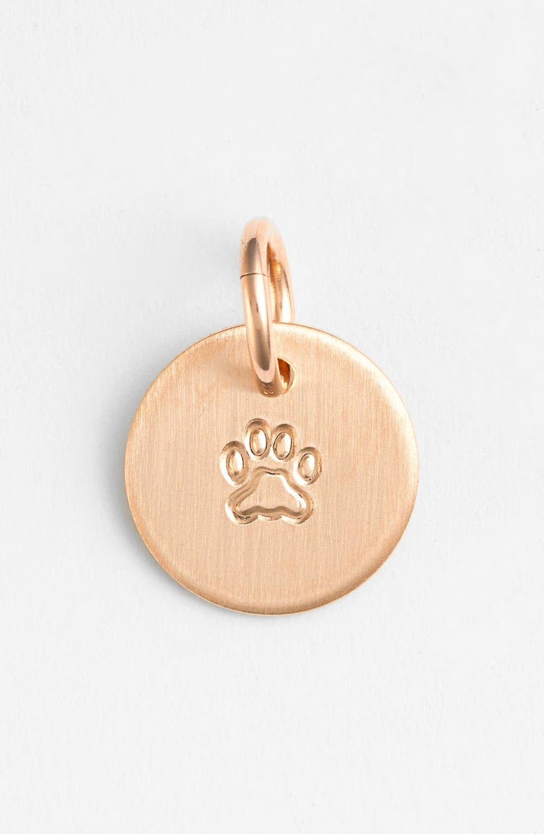 Paw Mini Stamp Charm,                             Main thumbnail 1, color,                             14K Rose Gold Fill Paw