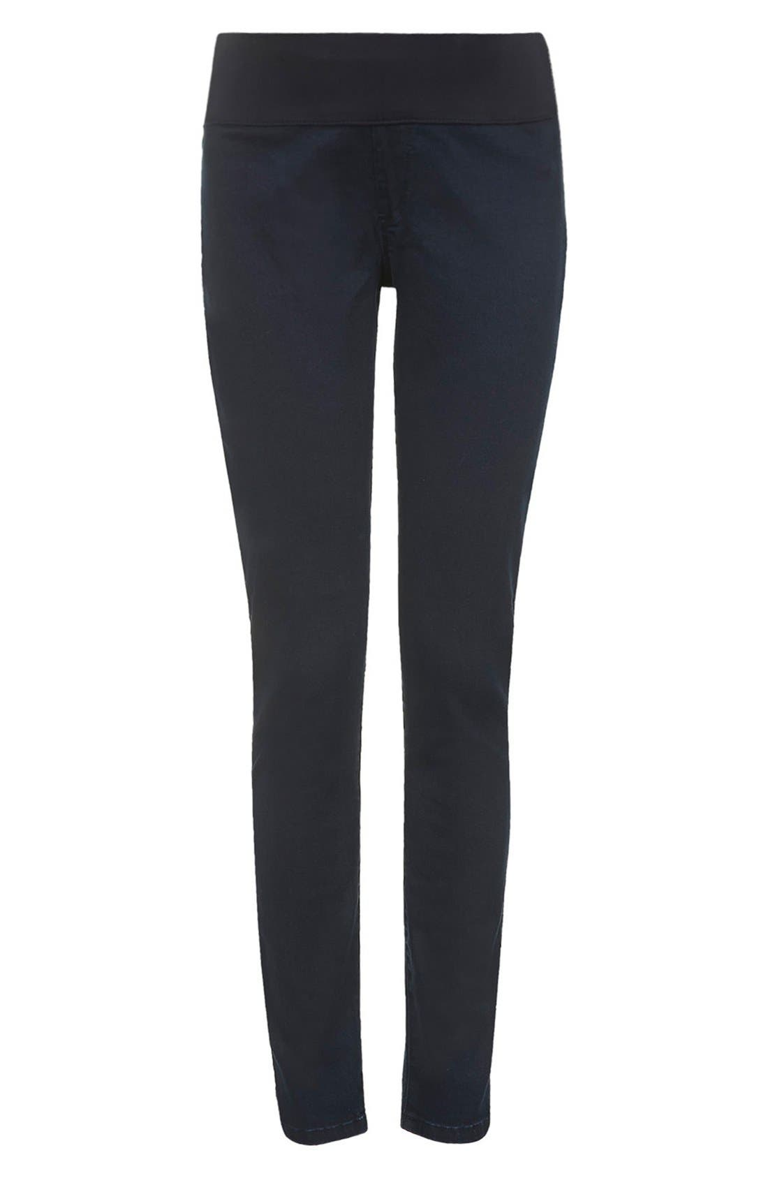 Alternate Image 3  - Topshop Moto 'Joni' Maternity Skinny Jeans (Navy) (Regular & Short)