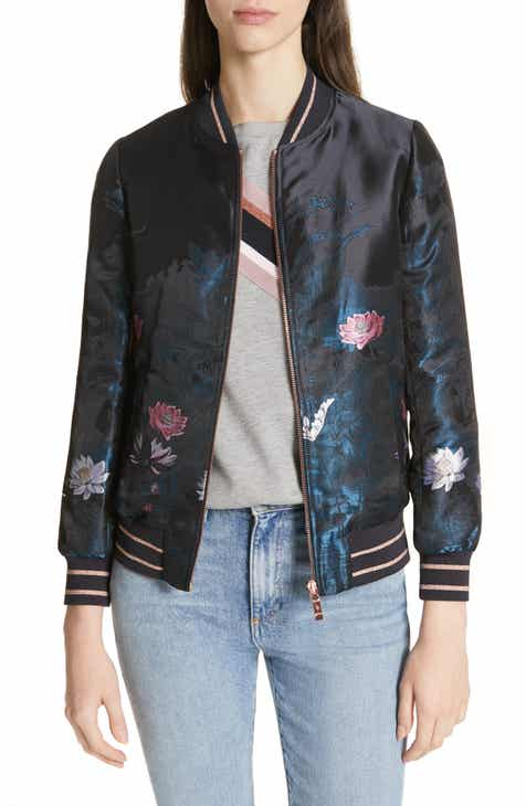 f614bfc514e Ted Baker London Hayzl Wonderland Jacquard Bomber Jacket