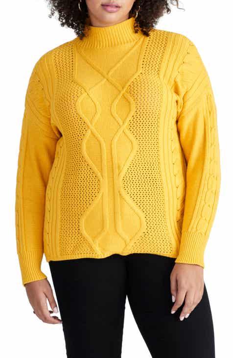 c23f3955939 RACHEL Rachel Roy Iman Cable Sweater (Plus Size)