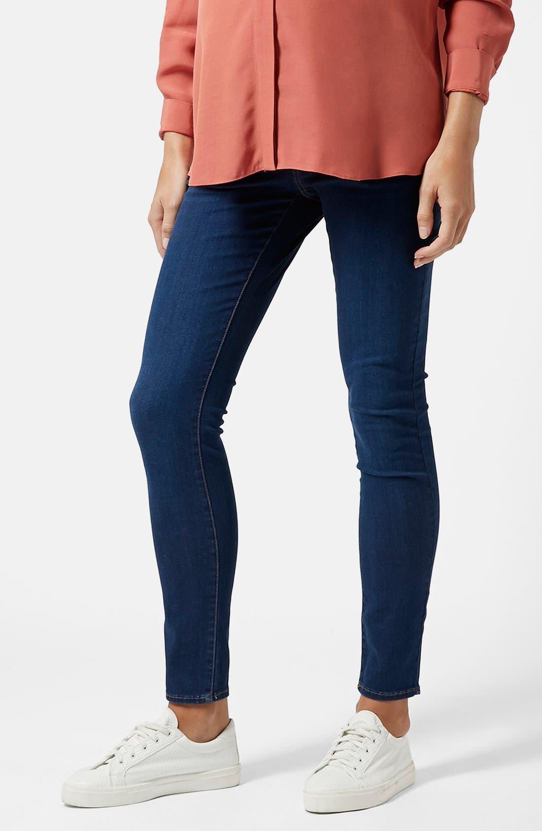 Main Image - Topshop Moto 'Leigh' Maternity Skinny Jeans (Regular & Short)