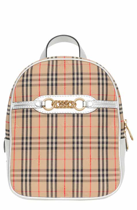e480f9ac0fb9 Burberry Link Vintage Check Canvas Backpack