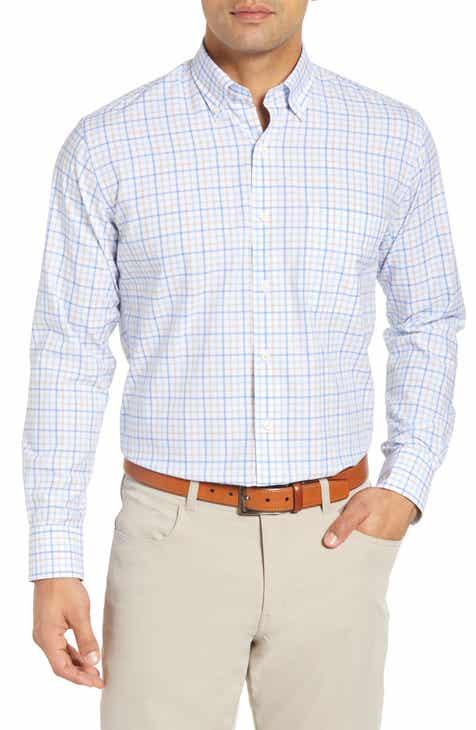 97b53dcf639 Peter Millar Vessel Regular Fit Check Sport Shirt