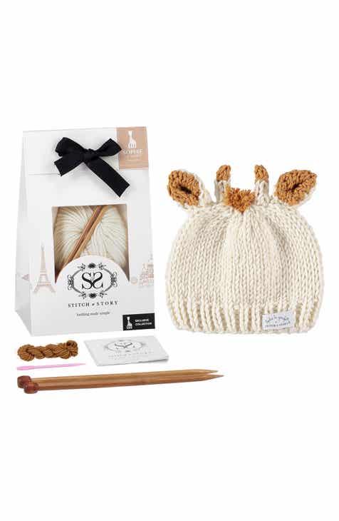 Sophie La Girafe Baby Hat Knitting Kit