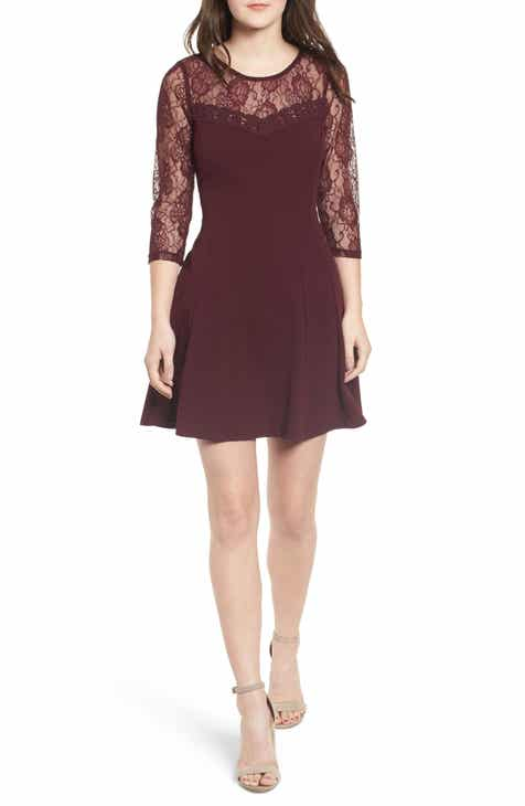 Speechless Lace Neck Fit & Flare Dress By Speechless by Speechless Looking for