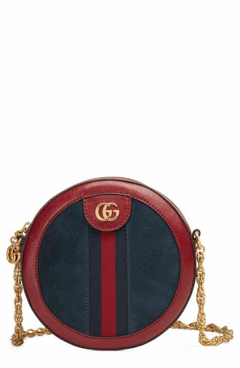 8803e6dd08cc Gucci Ophidia Small Suede & Leather Circle Crossbody Bag