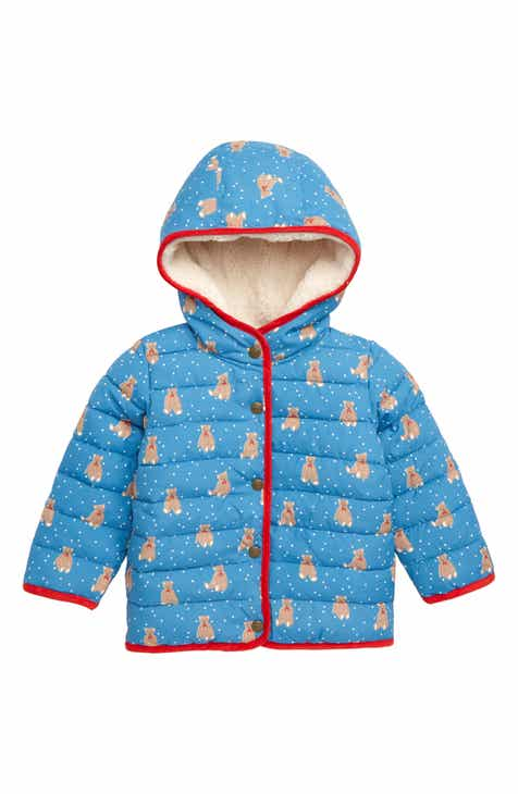 Mini Boden Babysaurus Water Resistant Quilted Puffer Coat (Baby   Toddler  Girls) d1a29bc77