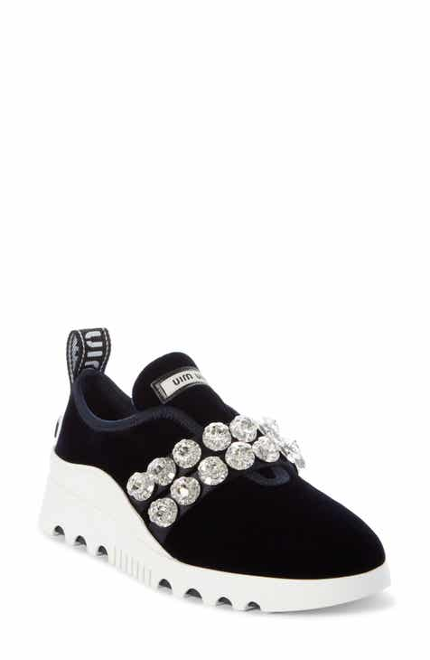 95fef1c91cf Miu Miu Jewel Strap Slip-On Sneaker (Women)
