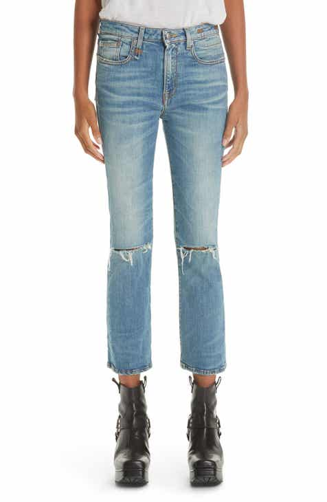 R13 Ripped Kick Fit Jeans (Drew) by R13