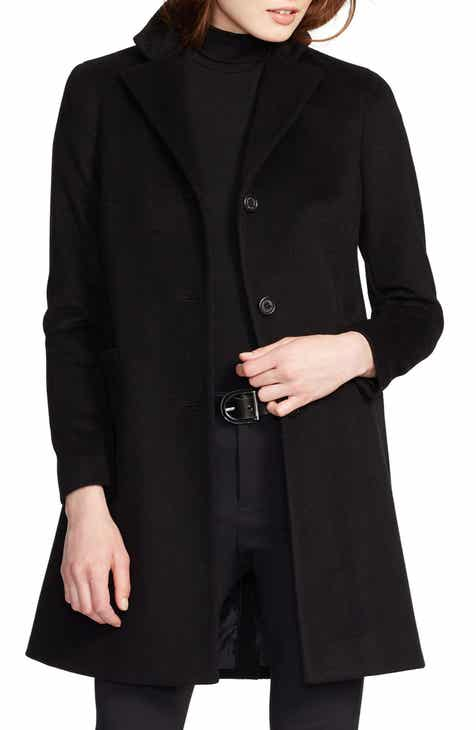 42c10438848bc Lauren Ralph Lauren Wool Blend Reefer Coat (Regular   Petite)