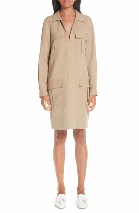 Partow Pocket Twill Shirtdress by PARTOW