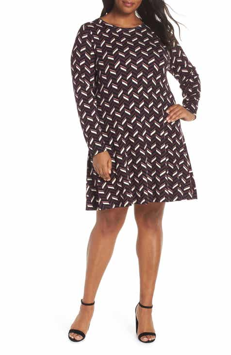 1c47c4049193 MICHAEL Michael Kors Chevron Sweater Dress (Plus Size)