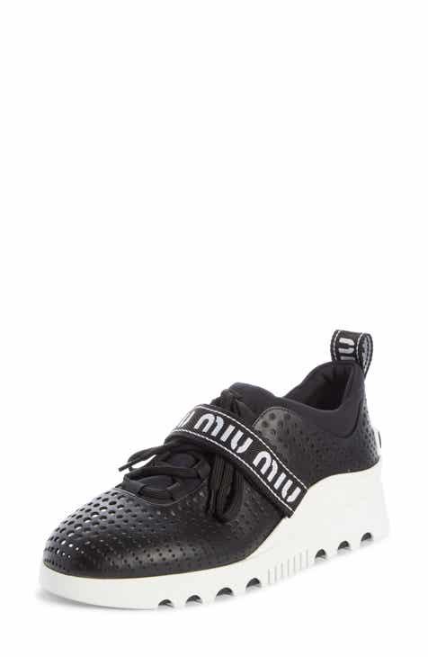 091d3cf7329 Miu Miu Perforated Platform Sneaker (Women)