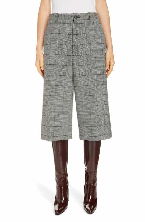 Balenciaga Windowpane Check Crop Wool Pants by BALENCIAGA