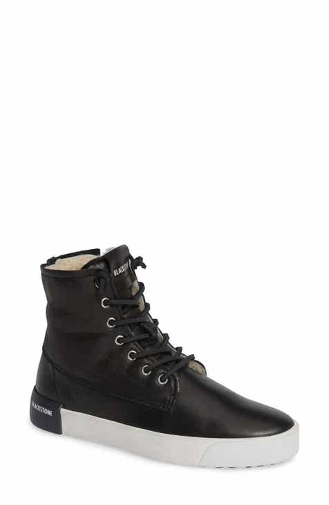 Blackstone QL41 High Top Sneaker with Genuine Shearling Lining (Women) 9a8be9358d61a