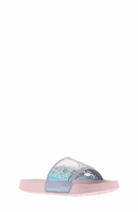 2989ed30659 Sam Edelman Mackie Veil Glitter Slide Sandal (Toddler