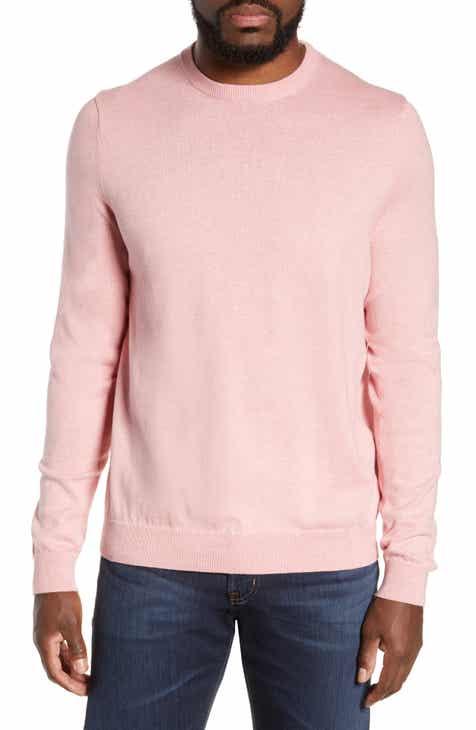 debabeb6a545 Nordstrom Men s Shop Cotton   Cashmere Crewneck Sweater (Regular   Tall)