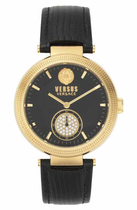97509f04dc VERSUS Versace Star Ferry Leather Strap Watch