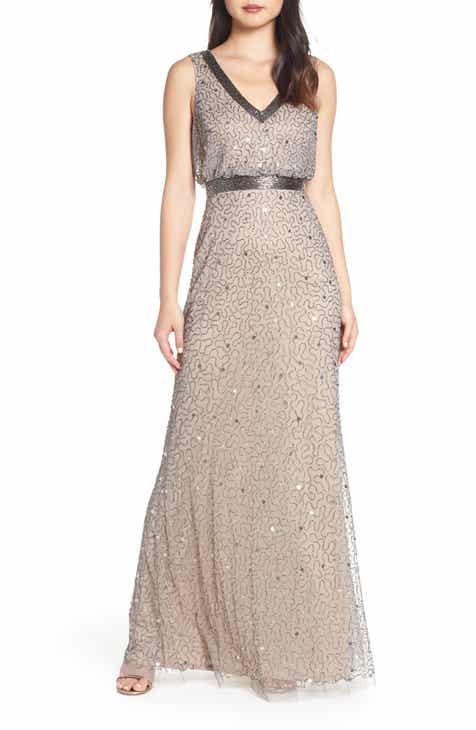 8247c1b44a9 Adrianna Papell Beaded Mesh Evening Dress