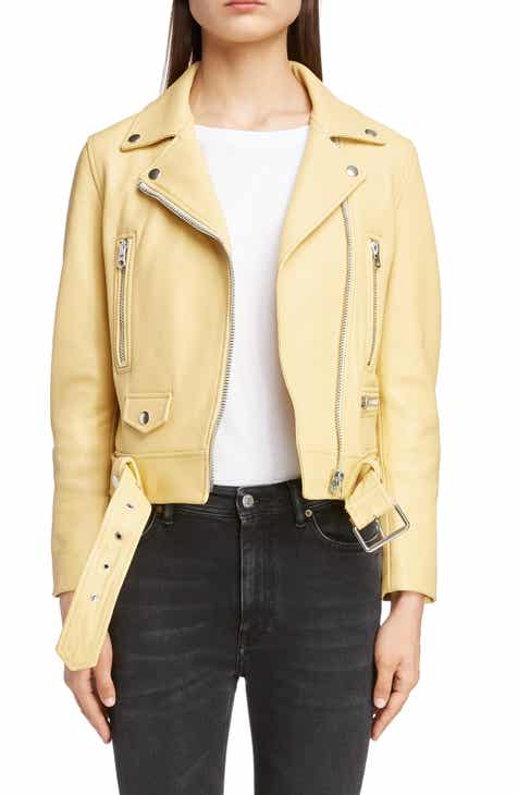Acne Studios Leather Moto Jacket by ACNE