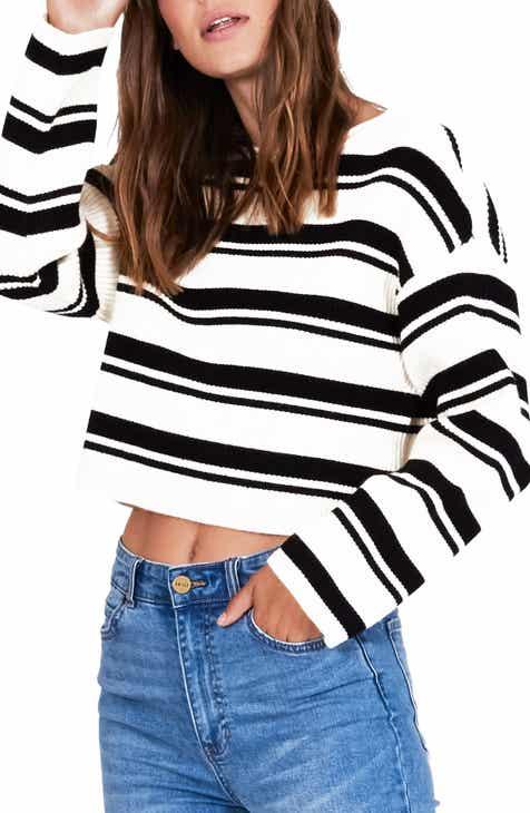 3688757e28b Amuse Society Bahia Stripe Crop Sweater