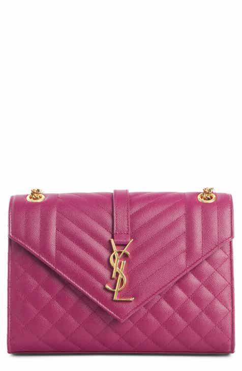 a86377472434 Saint Laurent Medium Cassandre Calfskin Shoulder Bag