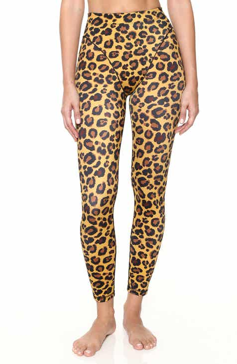 Adam Selman Sport French Cut Leopard Leggings by ADAM SELMAN SPORT
