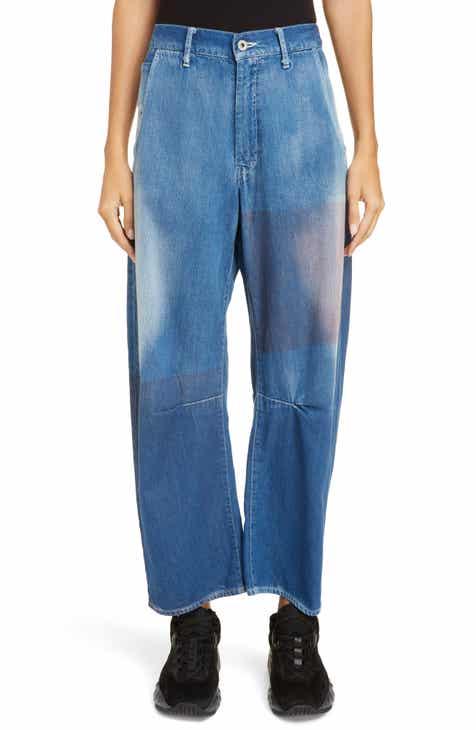 9e3563c391 Y s by Yohji Yamamoto Dye Patch Wide Leg Jeans