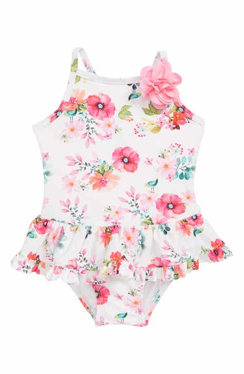 f3fd05818692 Little Me Watercolor Floral One-Piece Swimsuit (Baby)