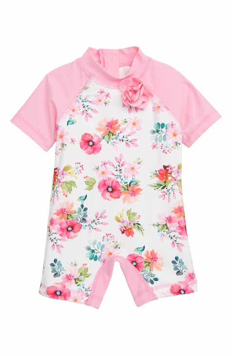 cf345bb15d Little Me Watercolor Floral One-Piece Rashguard Swimsuit (Baby)