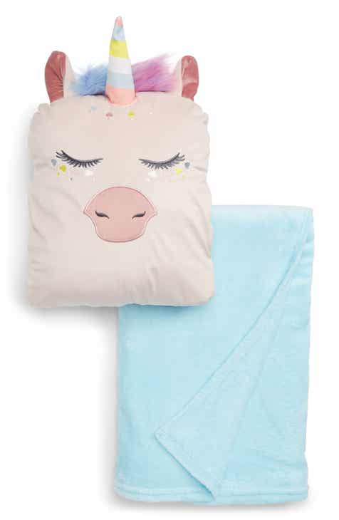 Under One Sky Critter Pillow & Throw Set (Girls)