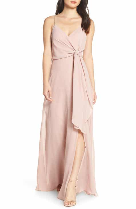 510d6d339b8f Jenny Yoo Amara Chiffon Overlay V-Neck Evening Dress