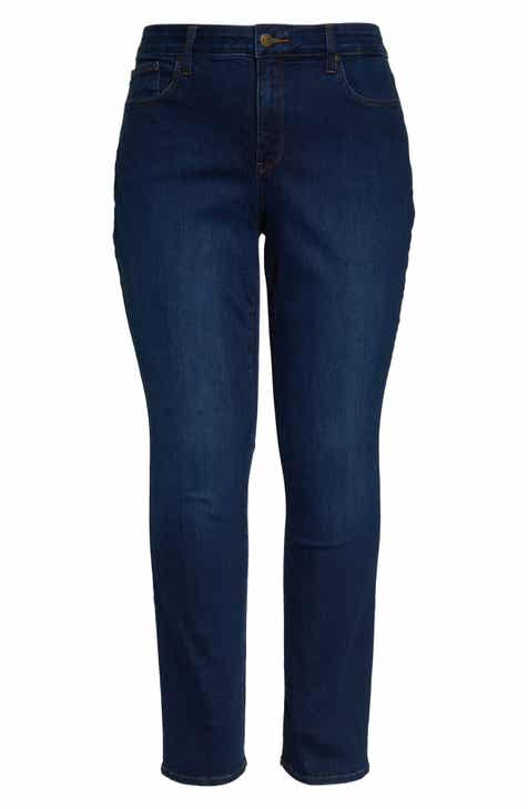 008e24557b8 NYDJ Marilyn High Rise Straight Leg Jeans (Plus Size)
